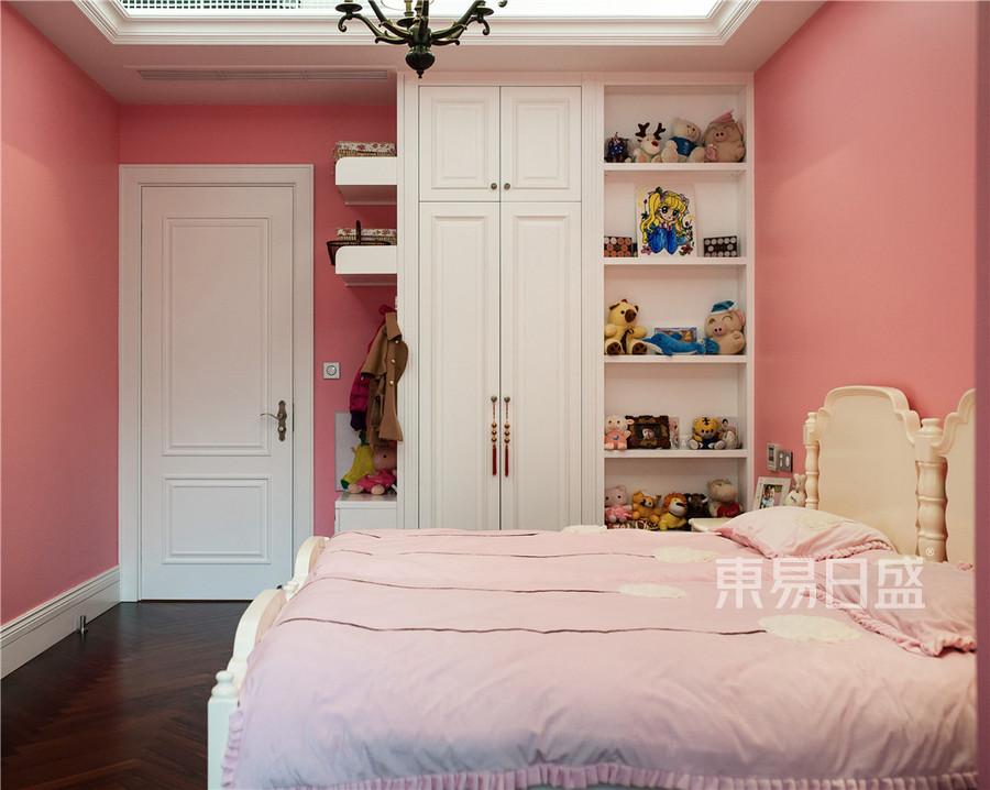 滨江首府180平美式乡村设计装修效果图-女儿房