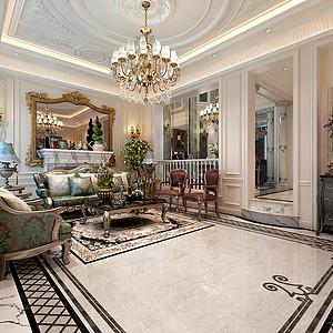 长青湾别墅500平米法式古典风格效果图