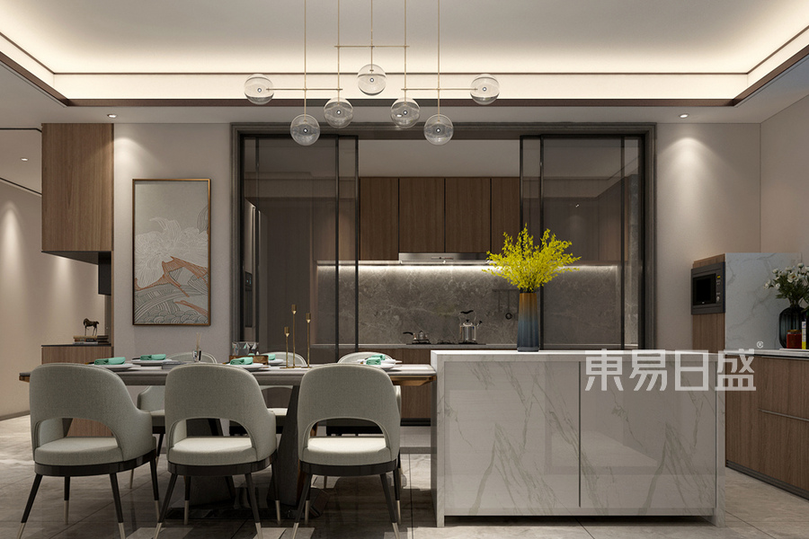 新中式風格餐廳裝修設計