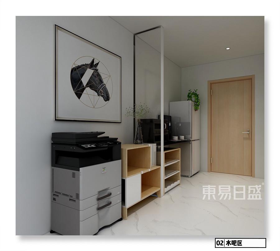 中天健广场现代简约风格办公区装修效果图