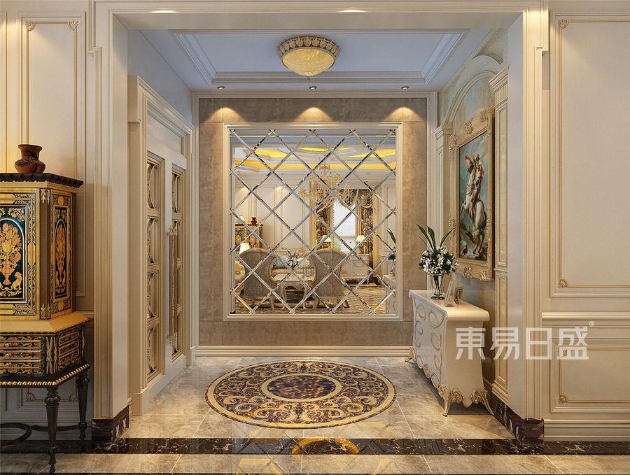 鹭港欧式风格一层门厅装修效果图