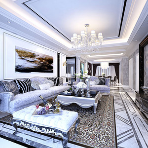 卓弘高尔夫雅苑 134平米  客厅