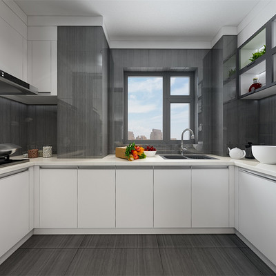 首开国风琅樾三居室现代简约厨房装修效果图