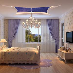 紫玉山庄-美式乡村-儿童房