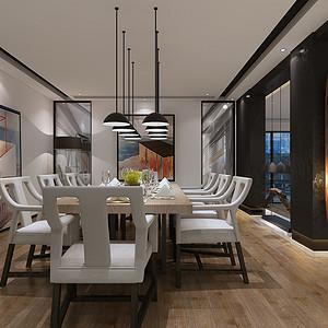 新中式风格 餐厅装修效果图 别墅装饰