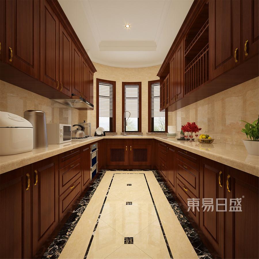 240平贝肯山欧式风格厨房装修效果图