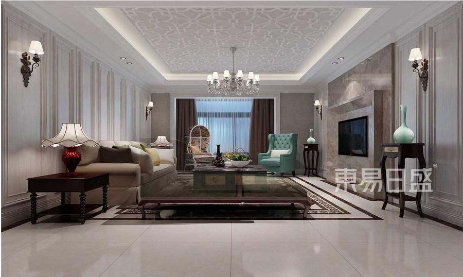 簡歐風格客廳裝修設計