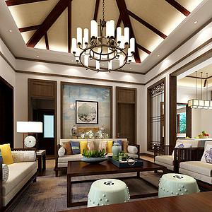 大者-别墅-新中式风格装修案例