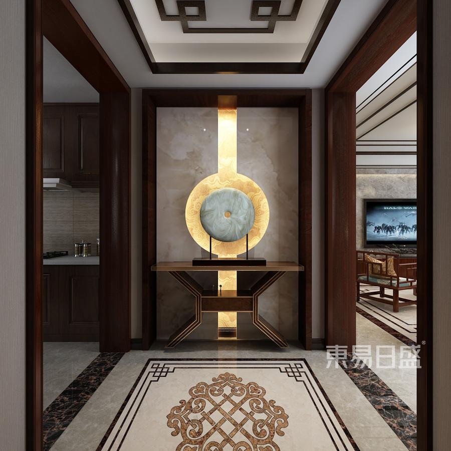 中式古典风格-玄关-装修效果图
