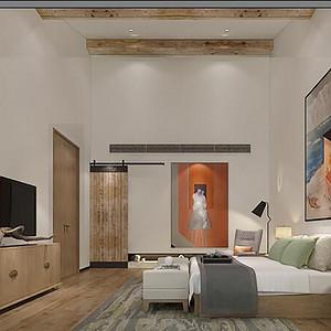 新中式风格 卧室装修效果图 别墅装饰