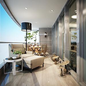 现代前卫风格四居室-阳台