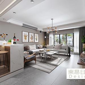 新希望锦官阁118㎡三居室现代风格