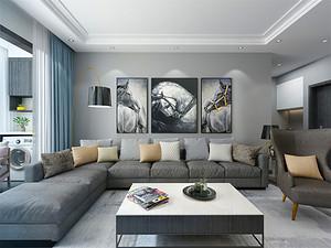 首开国风琅樾三居室现代简约设计风格