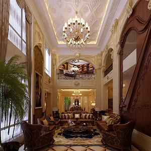 长青湾别墅800平米欧式豪华风格效果图