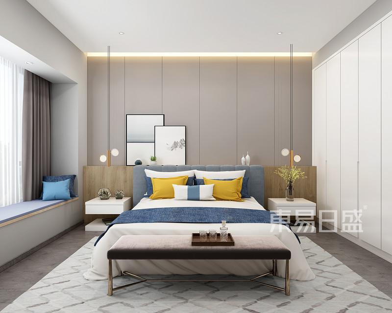 260㎡现代简约卧室装修样板间