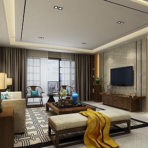 天骄御峰-新中式-客厅