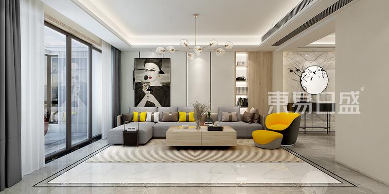 260㎡现代简约客厅装修样板间
