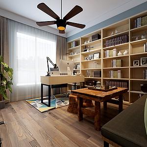 北欧风格书房效果图