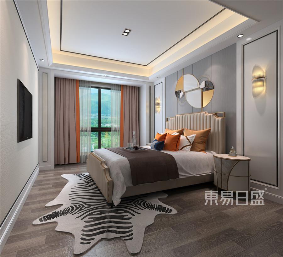 现代轻奢风格卧室装修设计效果图效果图_2018装修案例