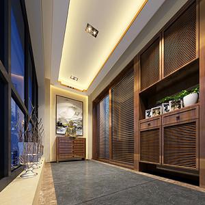 中式风格装修效果图 进门玄关设计