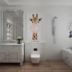 现代美式-卫生间