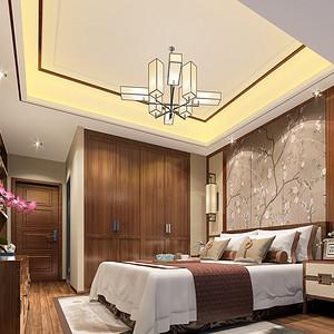 中式风格装修效果图 卧室装饰设计