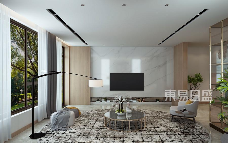 一楼客厅电视背景墙效果图