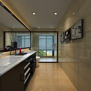 新中式风格 卫生间装修效果图