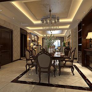 珠江道欧式古典风格餐厅装修效果图