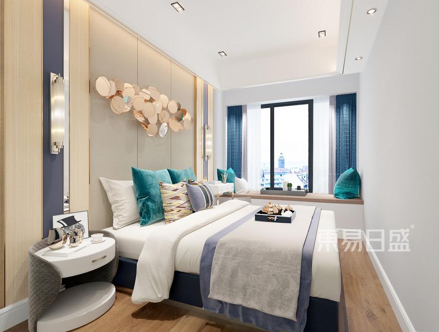 深业东岭-北欧轻奢风格-卧室装修效果图