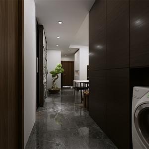 三居室-现代简约-过道-效果图