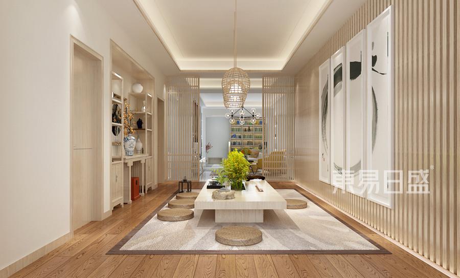 现代简约风格茶室装修设计效果图_2018装修案例图片-
