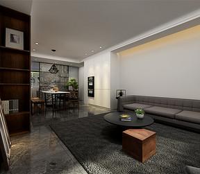三居室-现代简约-客厅-效果图
