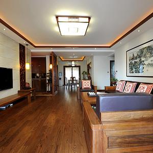 九峰小区176平现代中式风格阳台视角