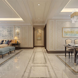 熙和园新古典风格走廊装修效果图