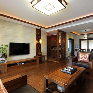 九峰小区176平现代中式风格客餐厅