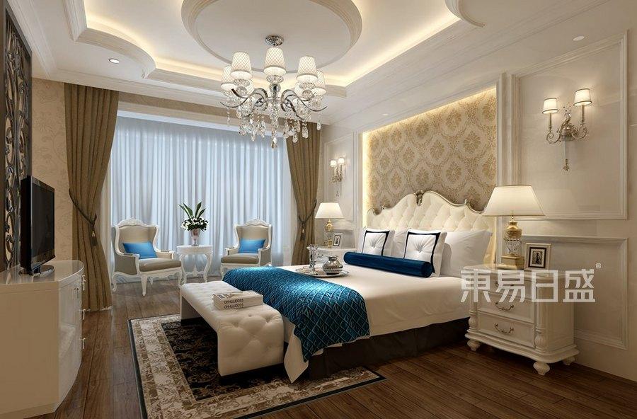 广电兰亭珑府法式轻奢卧室装修效果图效果图   分享  收藏  空间