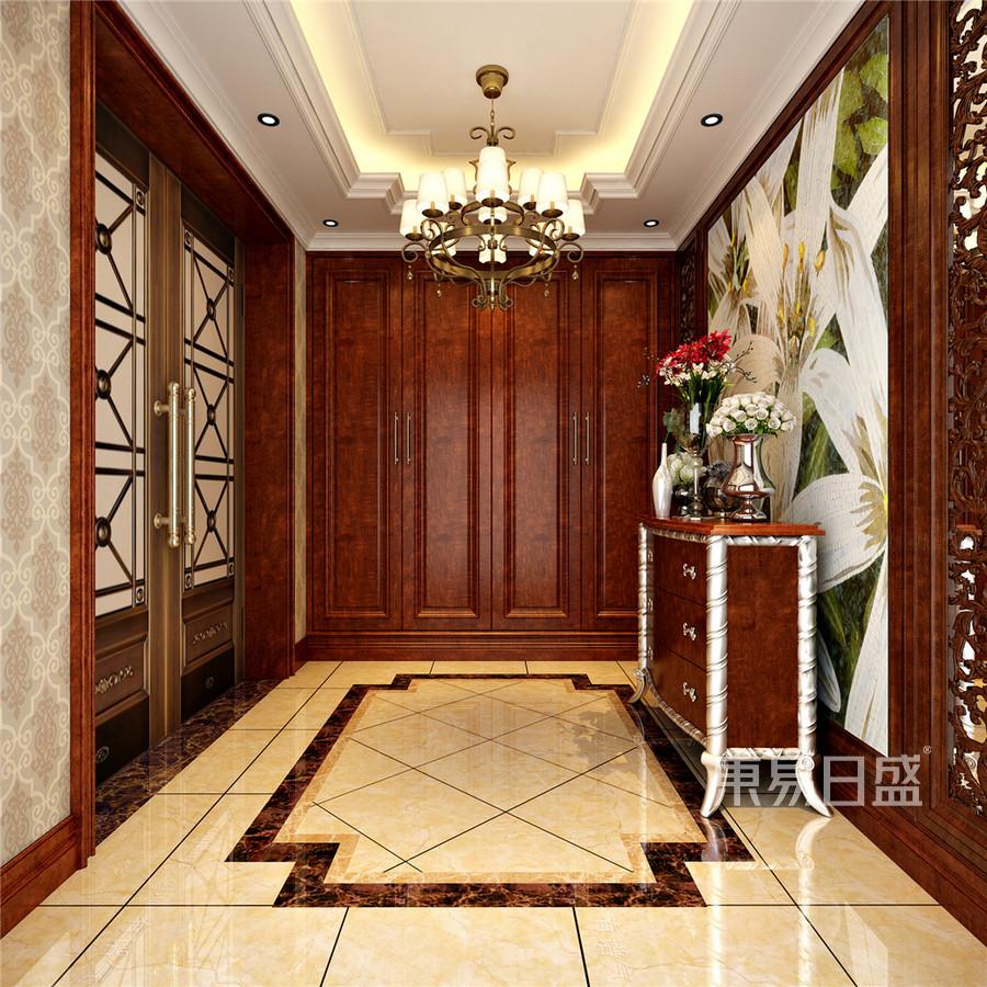 檀府欧式古典门厅装修效果图