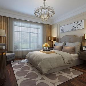 熙和园新古典风格主卧室装修效果图