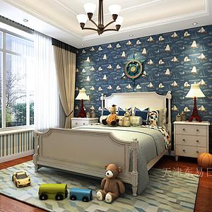 融创中央学府简美风格儿童房装修效果图