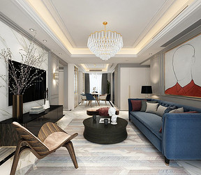 保利时代客厅装修效果图