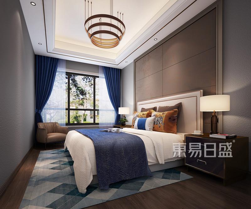 锦绣山河观园别墅轻奢欧式卧室效果图