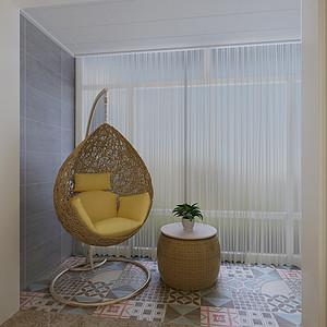 现代简约风格-阳台-装修效果图