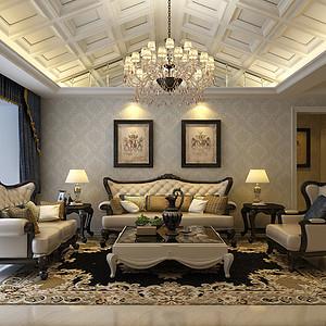 福美国际-三居室-新古典风格