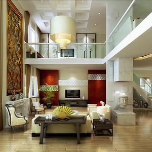 广州南沙新城-新中式装修风格-550平米