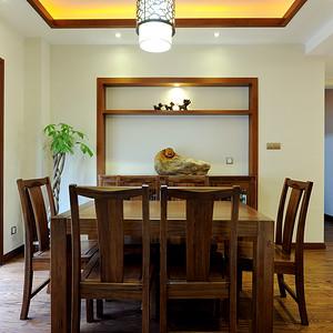 九峰小区176平现代中式风格三房餐厅