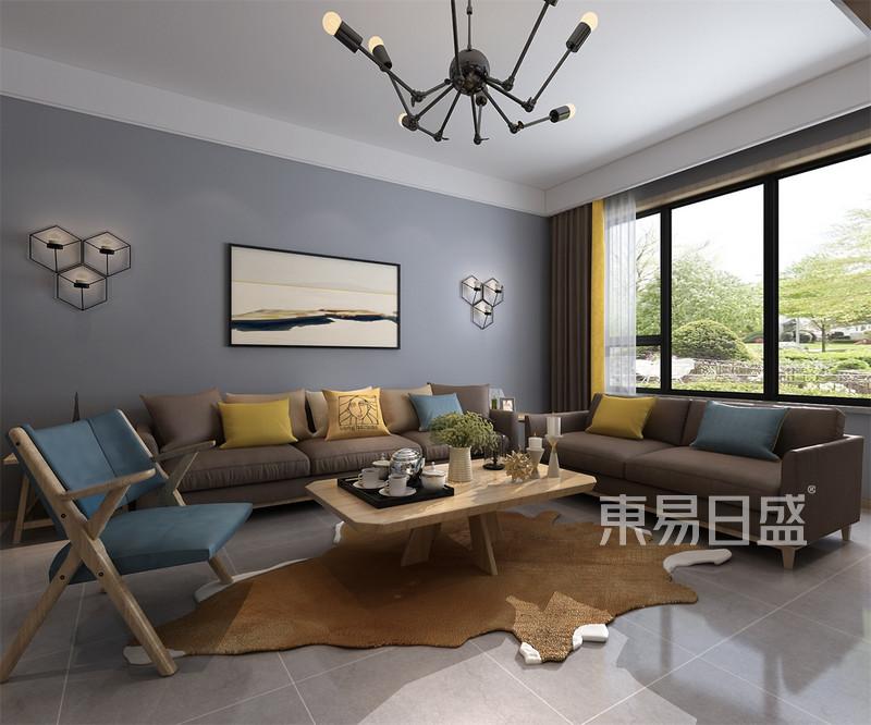 北欧-客厅沙发背景墙效果图_装修效果图大全2018图片