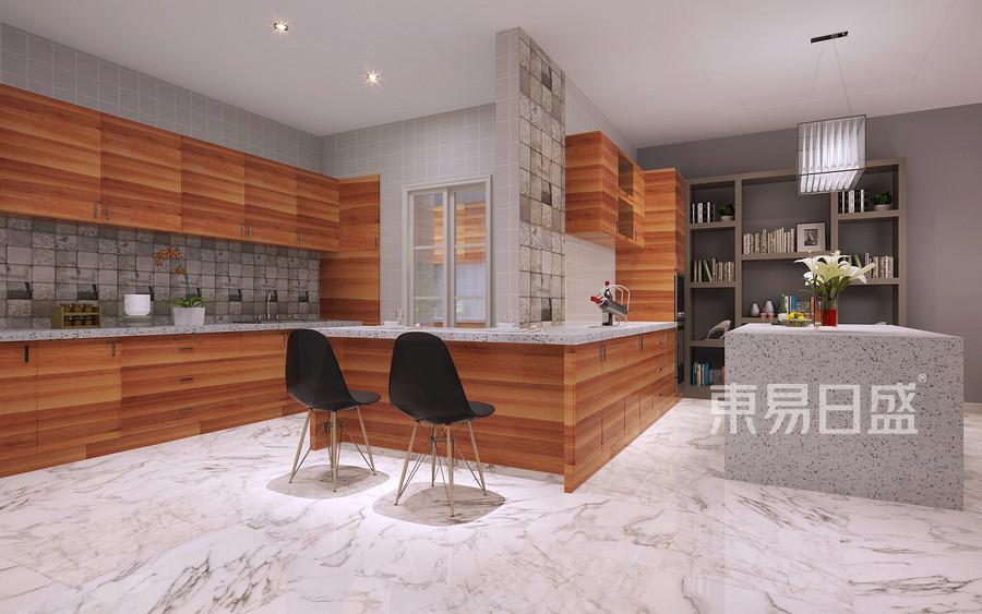 320平滨海壹号混搭风格一层厨房装修效果图