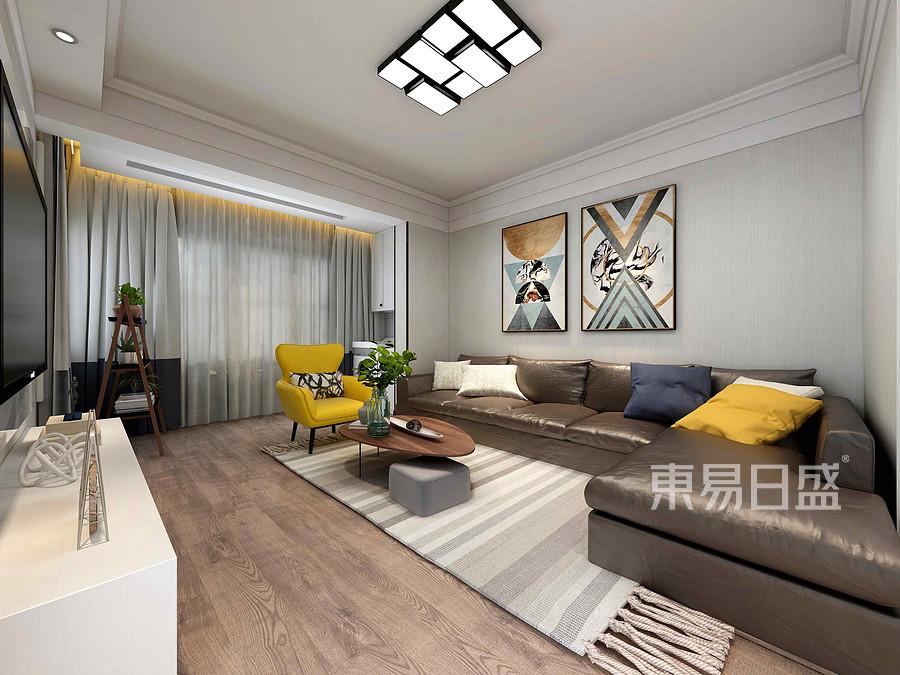 504家属院现代简约风格客厅装修效果图