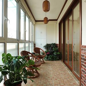 九峰小区176平现代中式风格三房阳台